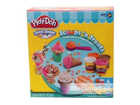 Vỏ hộp sản phẩm Play-Doh A9801 - Bộ làm kem sắc màu