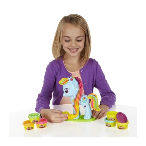 Play-Doh B0011 - Trang trí Pony với chiếc bờm màu sắc thật dài