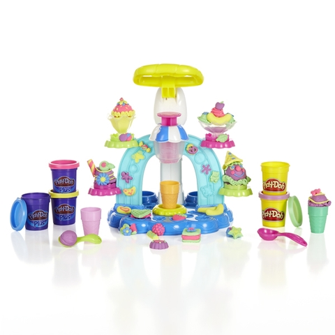 Trọn bộ các chi tiết có trong Play-Doh B0306 - Máy làm kem cầu vồng