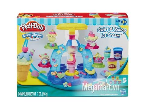Vỏ hộp đựng đồ chơi Play-Doh B0306 - Máy làm kem cầu vồng