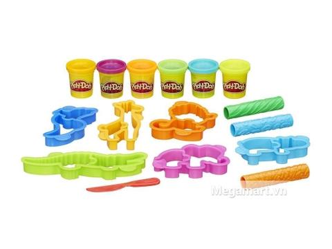 Đồ chơi Play-Doh B1168 - Thế giới động vật cho bé làm quen với các con vật ngộ ngĩnh