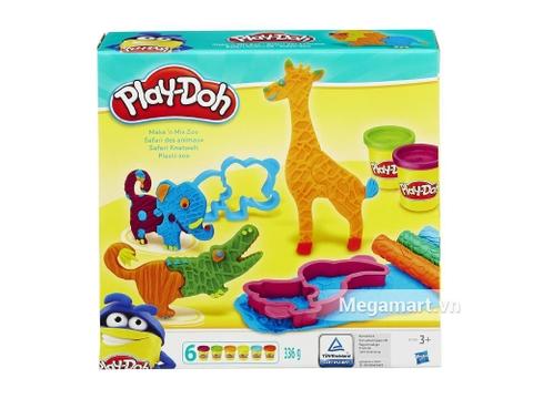 Hộp đựng bên ngoài sản phẩm Play-Doh B1168 - Thế giới động vật