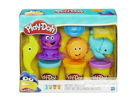 Hình ảnh hộp đựng bên ngoài Play-Doh B1378 - Sắc màu đại dương