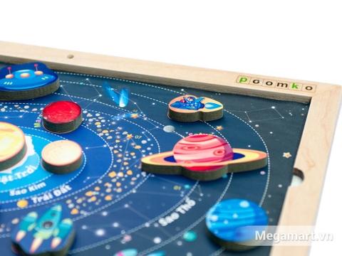 Bộ đồ chơi gỗ thông minh Hệ mặt trời với các miếng ghép mô tả các hành tinh