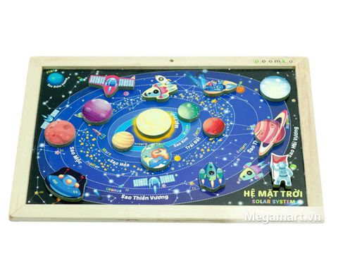 Poomko Bộ hệ mặt trời - Solar System đồ chơi gỗ hữu ích cho bé
