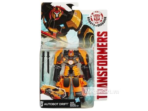 Vỏ hộp đựng bộ Transformers Robot Autobot Drift RID phiên bản chiến binh