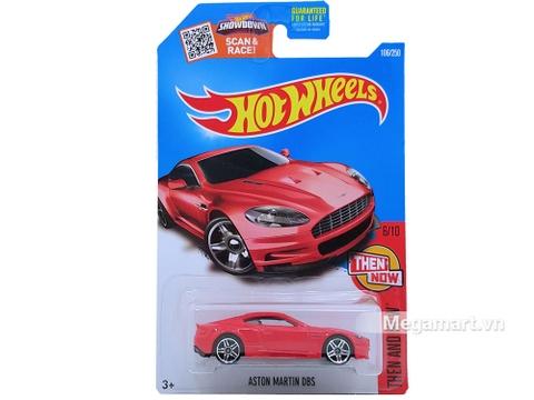 Vỏ hộp sản phẩm Hot Wheels Aston Martin DBS