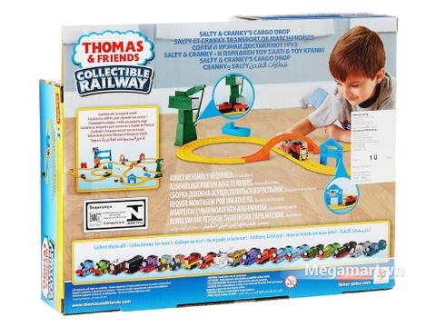 Thomas & Friends Bộ đường ray bến cảng - bìa sau của sản phẩm