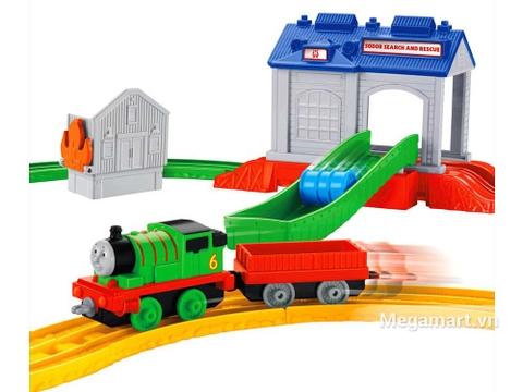 Chi tiết Thomas and Friends Bộ đường ray Percy đi trung tâm cứu hộ