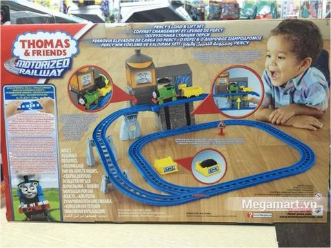 Thomas and Friends Bộ đường ray vận chuyển hàng bằng thang máy Percy - bìa sau sản phẩm