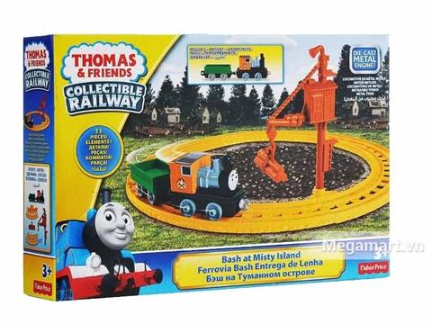 Hình ảnh vỏ hộp bộ Thomas & Friend Bộ đường ray Va chạm tại đảo Misty