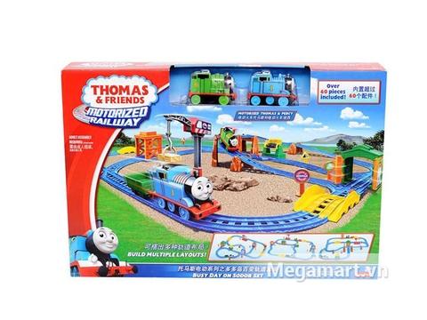 Hình ảnh vỏ ngoài của Thomas and Friends Bộ đường ray Một ngày bận rộn cùng Percy