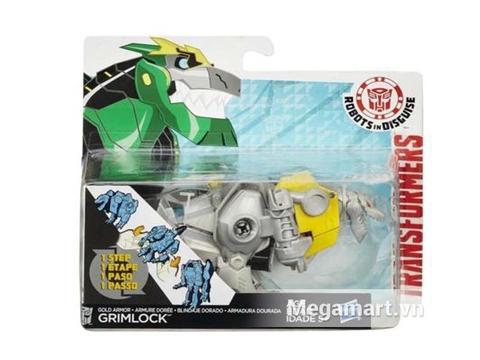 Hình ảnh vỏ ngoài của Transformers Robot Gold Armor Grimlock RID phiên bản biến đổi siêu tốc