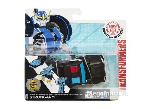 Hình ảnh vỏ ngoài của Transformers Robot Patrol Mode Strongarm RID phiên bản biến đổi siêu tốc