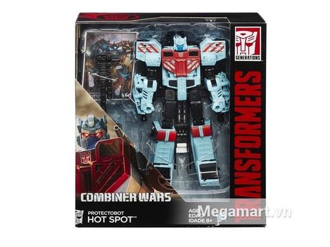 Hình ảnh vỏ ngoài của Transformers Robot Protectobot Hot Spot phiên bản kết hợp huyền thoại