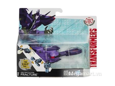 Hình ảnh vỏ ngoài của Transformers Robot Deception Fracture phiên bản biến đổi siêu tốc