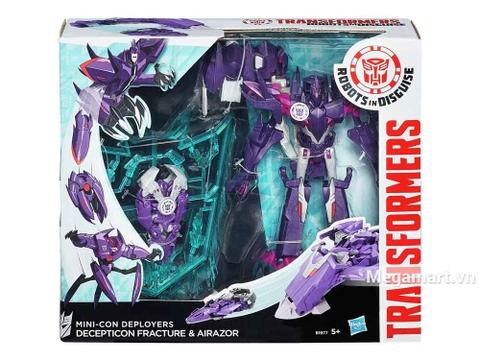 Hình ảnh vỏ ngoài của bộ Transformers Robot vũ khí hủy diệt Mini con