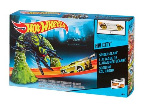 Vỏ hộp bộ đồ chơi Hot Wheels Blast The Spider