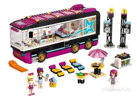 Trọn bộ các chi tiết trong mô hình Lego Friends 41106 - Xe Buýt Biểu Diễn Ngôi Sao