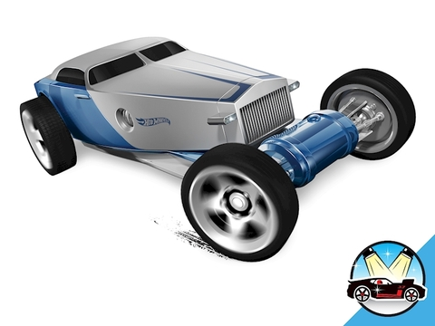 Hot Wheels Hi-roller - thiết kế xe phá cách