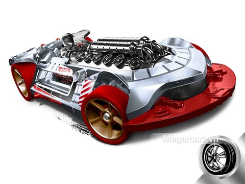 Hot Wheels X-Steam - mô hình xe cá tính