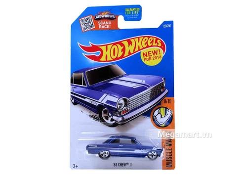 Hình ảnh vỏ hộp bộ Hot Wheels '63 Chevy II