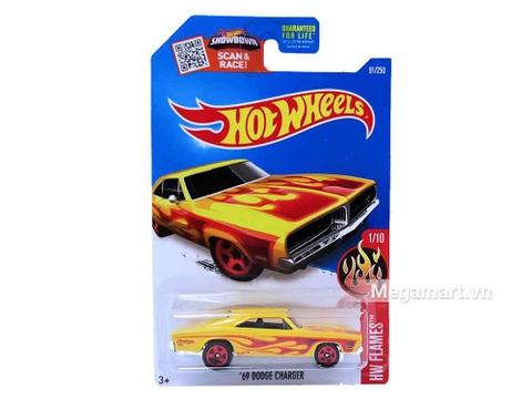 Hot Wheels '69 Dodge Charger - mô hình xe mới