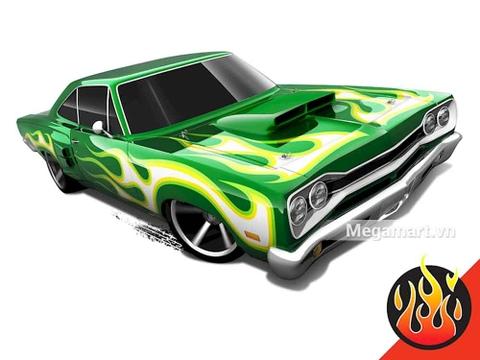 Hot Wheels '69 Dodge Coronet Superbee - mô hình xe mạnh mẽ