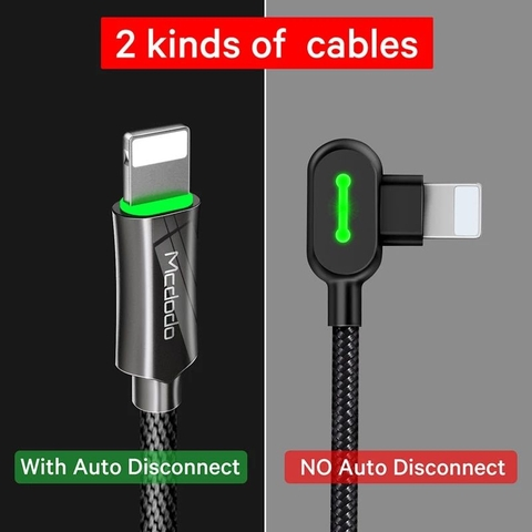 Cáp sạc tự ngắt cho iPhone Mcdodo CA-390 Knight Auto Disconnect Fast Charging Lightning 8 pin Cable