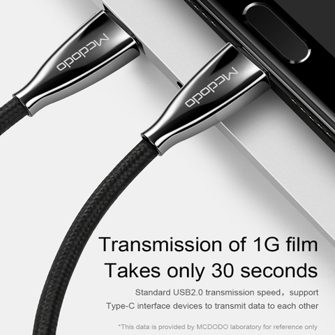 Cáp sạc nhanh & truyền data tốc độ cao Mcdodo Excellence Series Type-c PD cho Smartphone/ Tablet / Macbook/ Laptop Type C (3A, 60W, Power Delivery, QC3.0 Quick Charge Cable)