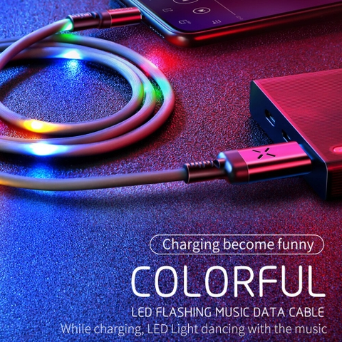 Cáp sạc dây led sáng Mcdodo X Series Voice Control Lightning dùng cho iPhone / iPad ( With colorful LED light, 2.4A, 1M, Lightning Cable )