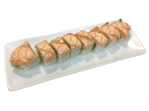 60. Aburi Salmon Cheese Roll