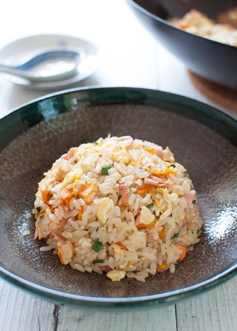 R22. CHAHAN (FRIED RICE) SALMON
