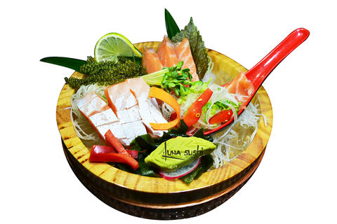 71A. Salmon Belly Sashimi