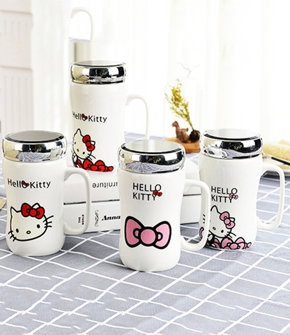 Ly sứ mèo Hello Kitty