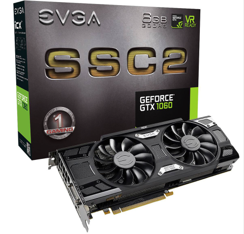 VGA EVGA GeForce GTX 1060 SSC2 GAMING 6Gb DDR5