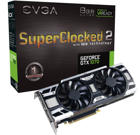 VGA EVGA GeForce GTX1070 SC2 GAMING 8GB GDDR5