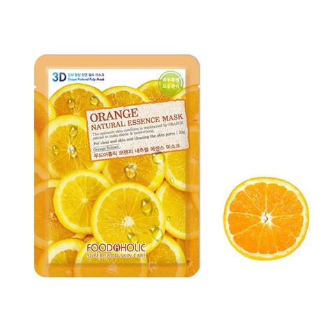 Mặt Nạ 3D Cam Orange Natural Essence Mask Foodaholic