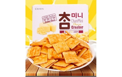 Bánh Crown tẩm phô mai Chammini Cheese Cracker 160g (Hộp)