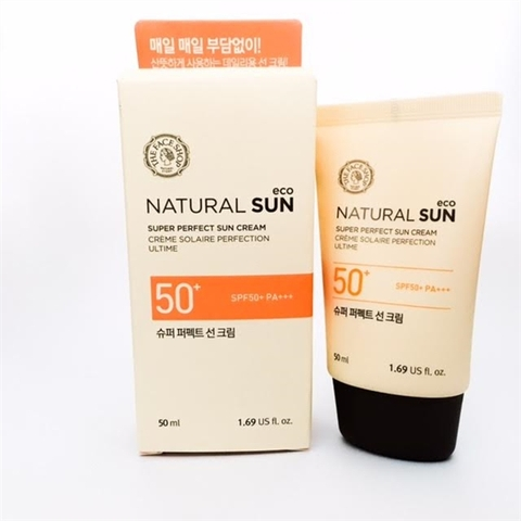 Kem chống nắng Thefaceshop Natural Sun Eco Super Perfect Sun Cream SPF50+ PA+++