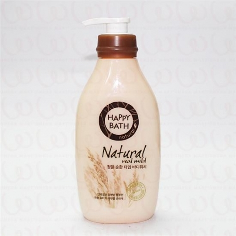 Sữa Tắm Happy Bath Natural Real Mild 500gr + Refill 250gr
