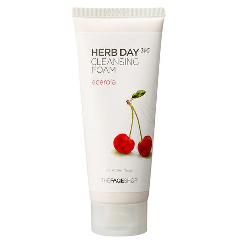 Sữa Rửa Mặt The Face Shop Herb Day 365 Cleansing Foam Cherry 170ml