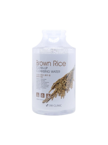Nước tẩy trang lúa mạch 3W CLINIC BROWN RICE CLEAN-UP CLEANSING WATER 500ml