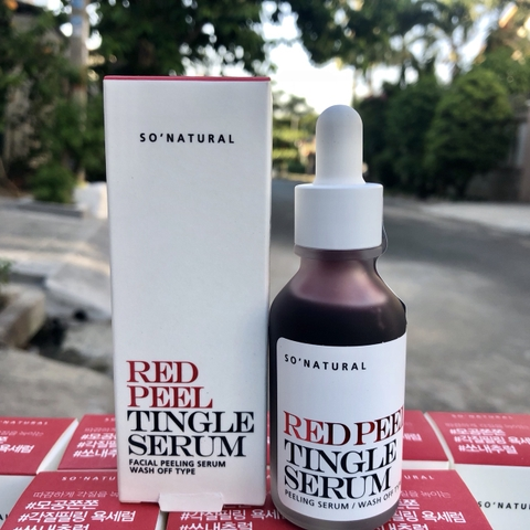 Tinh Chất Red Peel Tingle Serum So'Natural 35ml