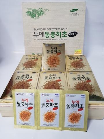 Đông Trùng Hạ Thảo Hộp gỗ trắng Kangwa Hàn Quốc