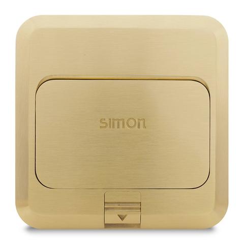 Ổ cắm âm sàn màu đồng Simon