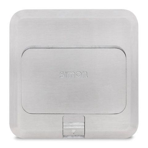 Ổ cắm âm sàn màu bạc Simon