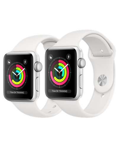 Apple Watch Series 3 Silver Aluminum Case with White Sport Band (GPS) Model 2019