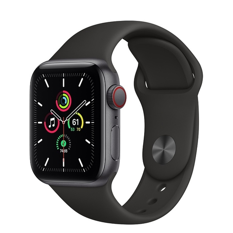 Apple Watch SE GPS + Cellular 44mm Space Gray Aluminium Case with Black Sport Band VN/A