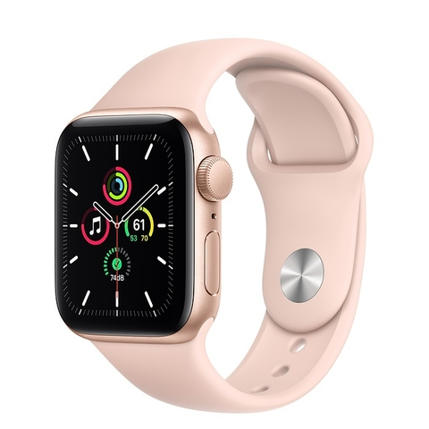 Apple Watch SE GPS Gold Aluminium Case with Pink Sand Sport Band